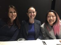 Elizabeth Grenik, Helen McGuire and Clara Choi